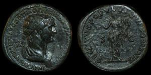 Roman Trajan - Rome - Dupondius