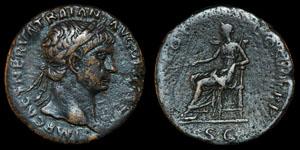 Roman Trajan - Rome - Sestertius