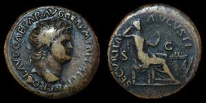 Roman Nero - Lyons - Dupondius
