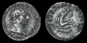 Roman Trajan - Rome - Denarius