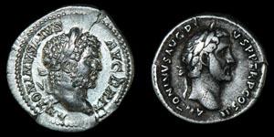 Roman Caracalla and Antoninus Pius - Denarii [2]