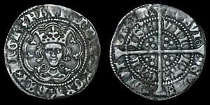 English Medieval Henry VI - Calais - Annulet Halfgroat