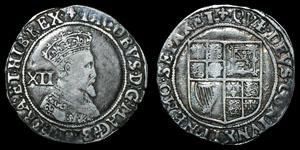 Stuart James I - Second Coinage - Shilling