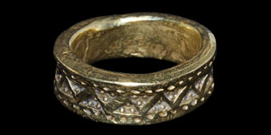 Viking Gold Punch Decorated Ring