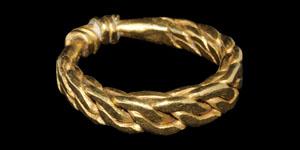Viking Gold Plaited Ring
