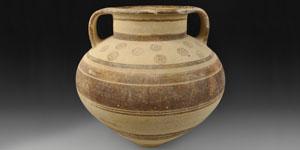 Bronze Age Cypro-Archaic I Bichrome Ware Amphora
