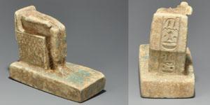 Egyptian Faience Seated Isis Statutette