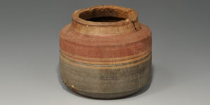 Egyptian Painted Wood Vessel