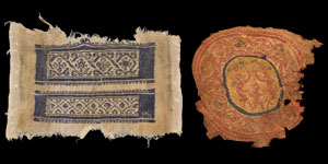 Egyptian Coptic Textile Fragments and a Leather Shoe