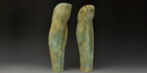 Greek Pair of Spartan Bronze Greaves