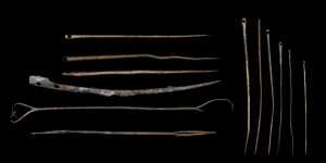 Roman - Nine Bronze Needles and Three Implements