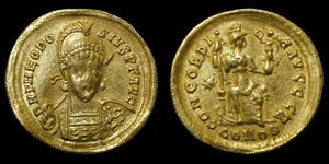 Roman Theodosius II - Constantinople - Solidus