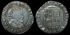 Stuart James I - Third Coinage - Shilling