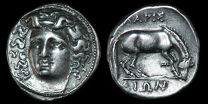 Greek Larissa - Thessaly - Drachm