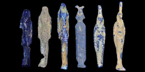 Egyptian Late Period Glass Amulet Group