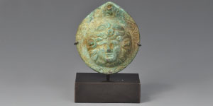 Roman Bronze Gorgon Mount
