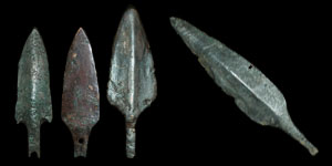 Bronze Age - Luristan - Four Bronze Arrowheads