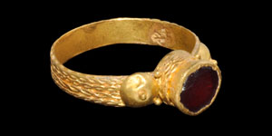 Anglo-Saxon Gold Cloisonné Ring