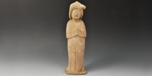 Chinese Ceramic Tang Court Lady Figurine