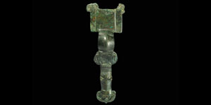 Anglo-Saxon Long Brooch with Mask