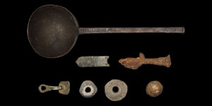 Tudor Pewter Spoon and Other Items