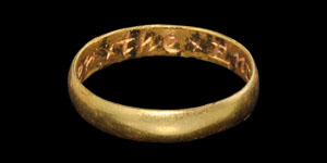 Post Medieval Remember x the x EnD Gold Posy Ring