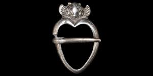 Medieval Silver Heart Brooch