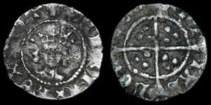 English Medieval Henry VI - London - Leaf Pellet Halfpenny