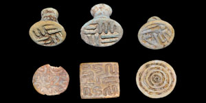Bronze Age Persian Faience Stamp Seals