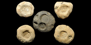 Sassanian Clay Bulla Seals