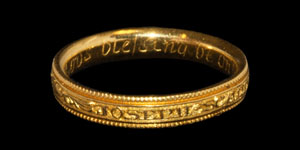 Post Medieval Gold Gods Blessing Be On Thee Posy Ring