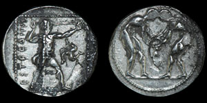 Greek Aspendos - Civic Coinage - Wrestlers Stater