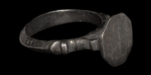 Medieval Inscribed Silver Seal Ring