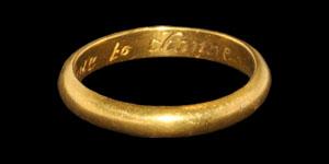 Post Medieval Gold I Scorne to Change Posy Ring