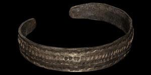 Viking Ornamented Silver Bracelet