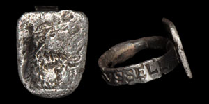 Tudor Baron William Russell Inscribed Hawking Ring