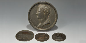 Commemorative Medal Napoleon Lead Medal (Andrieu) and Three Electrotype Medals [4]