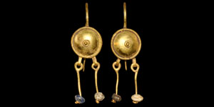 Roman Gold Filigree Earrings