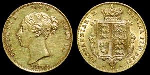 British Milled - Victoria - Half Sovereign - 1866