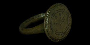 Byzantine Bronze Seal Ring