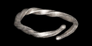 Viking Silver Twisted Finger Ring