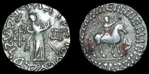 Indo-Scythian - Azes I - Tetradrachm