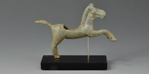 Roman Rearing Horse Statuette