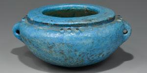 Egyptian Blue Faience Jar