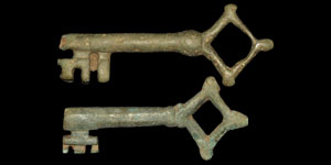 Medieval Bronze Quatrefoil Keys