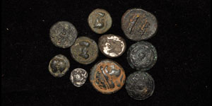 Greek Silver and Bronze Coin Group [10]