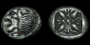 Greek Ionia - Civic Coinage - Lion and Sun Ornament Twelfth Stater