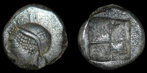 Greek Ionia - Civic Coinage - Archaic Athena Diobol