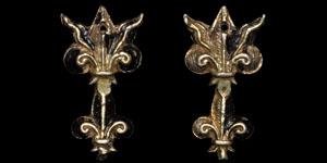 Tudor Nielloed Fleur-de-Lis Chape