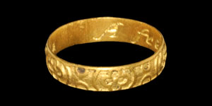 Post Medieval Gold A frendes gift  Posy Ring
